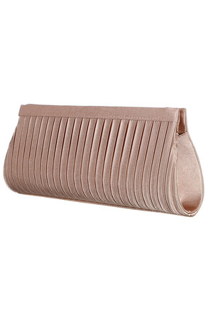 Luxury ladies clutch. Two snap fasteners. Large compartment and small pocket inside. Available chain strap 123 cm.