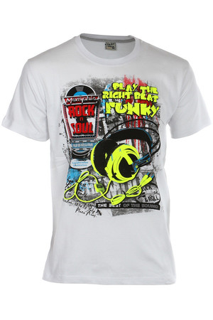 Men's t-shirt with merry print. Material: 100% cotton