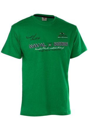 Classic mens t-shirt with lettering and short sleeves. Material: 100% cotton