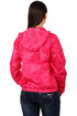 Women's jacket with polka dots and hood