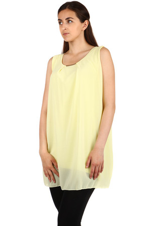 Free layered long top with a back cut. Can be combined with leggings. Import: Italy Material: 95% polyester, 5% elastane