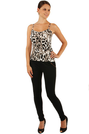 Women's Tank Top with Animal Pattern. Very pleasant and practical material for hot summer days. The vest has narrow