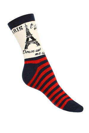 Original women's socks, different designs. For the Paris variant, only one-sided right-hand image for both pairs.
