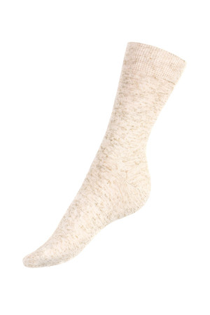 Monochrome classic socks for women. Material: 60% cotton, 25% linen, 15% polyamide