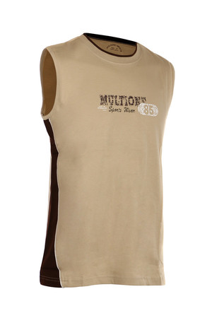 Sports men's tank top with the inscription. Material: 100% cotton