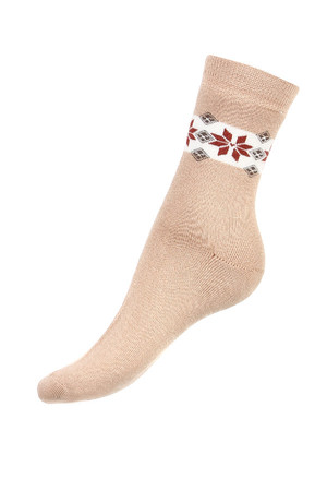 Thermo socks with pattern. Material: 85% cotton, 10% polyamide, 5% elastane