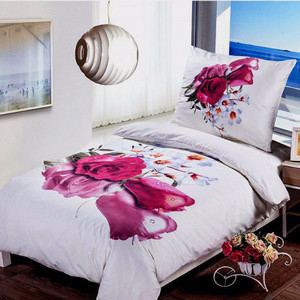 Beautiful microfiber bedding with high quality 3D photo printing. Cotton satin design has a cooling effect and is therefore