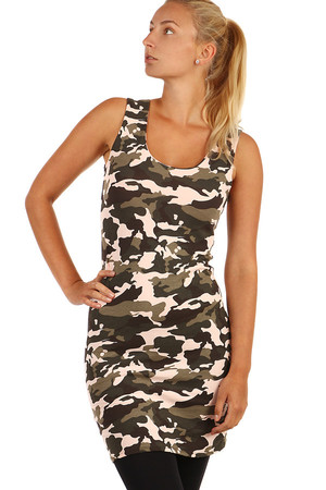 Stylish camouflage minidress. Thicker cotton material. Material: 92% cotton, 8% elastane.