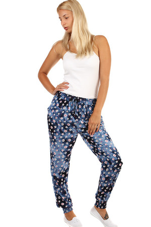 Batik women's leisure pants. Rubber waistband. Material: 65% bright, 35% polyester.