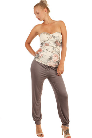 Comfortable women's turkish pants with wide waist and rubber trousers. Smooth and soft. Drawstring at waist. Import: