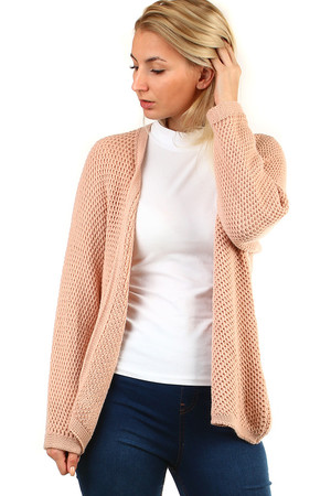 Knitted Women's Oversized Cardigan. The universal size corresponds to the S-3XL size. long sleeve without fastening longer
