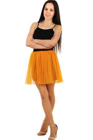 Short women's tulle skirt monochromatic without closing elastic black rubber waist tulle layer and briefs made of
