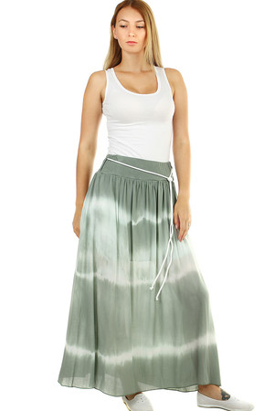 Original batik ladies maxi skirt length to ankles the waist is elastic with sewn rubber for maximum comfort during dressing