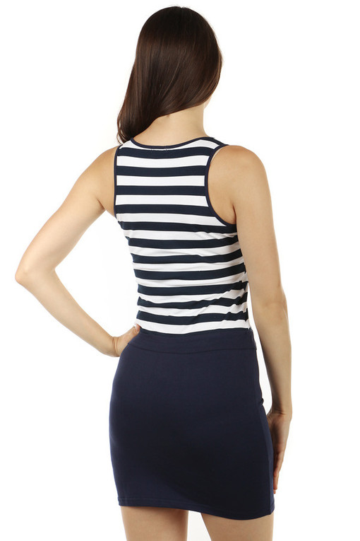 Comfortable summer dress with stripes