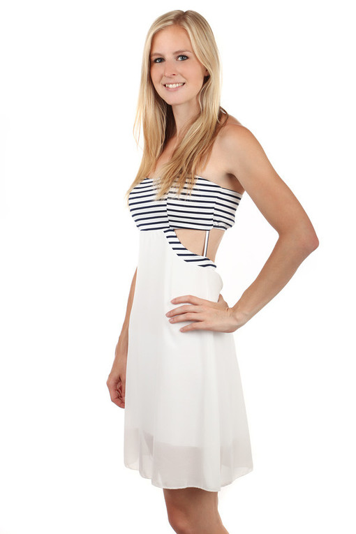 Strapless summer dress